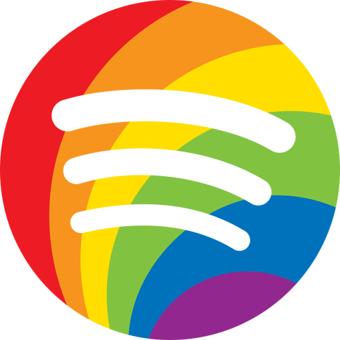 How to get the Spotify Pride icon in your Mac OS X dock ... - Aesthetic Spotify Logo
