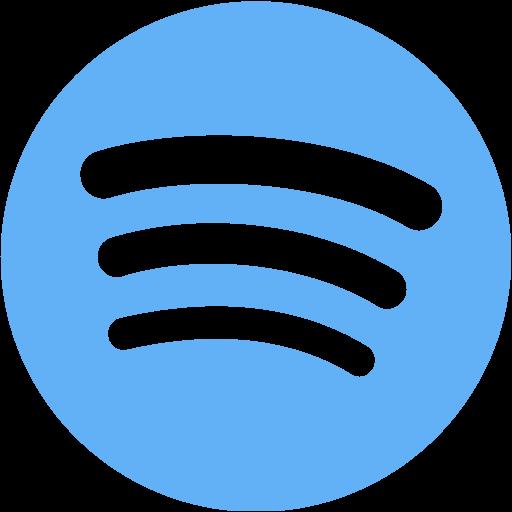 Tropical blue spotify icon  Free tropical blue site logo