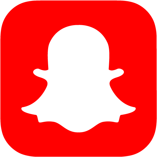 Red snapchat icon  Free red social icons