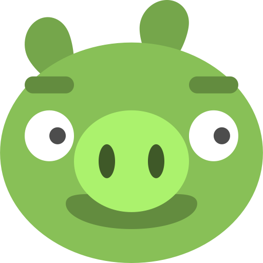 Angry bad birds game pig icon