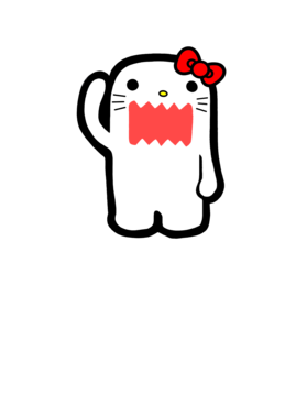 Rawr Hello Kitty Angry Parody T Shirt