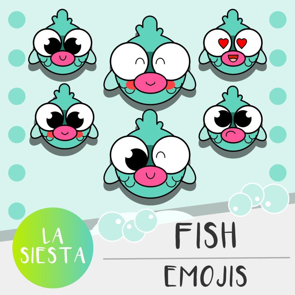 Fish Emojis Clipart  Emoji Clip art Hello kitty
