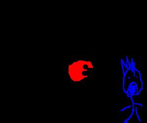 Hello Kitty shooting angry birds at Nyan Cat  Drawception