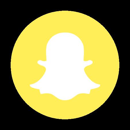 Snapchat Logo encerclé Icône
