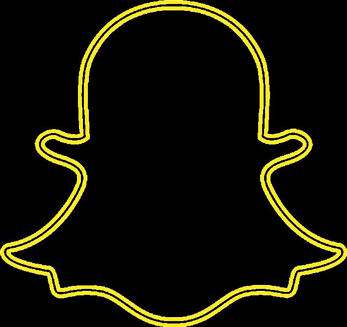 snapchat logo yellow glow  Sticker by Tzoanas picks