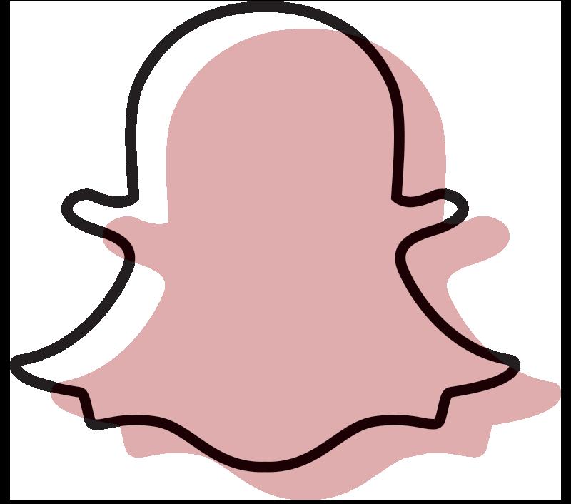 Cute Snapchat Logo Pink  aesthetic tumblr