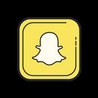 Cute Light Blue Snapchat Logo  aesthetic cute font