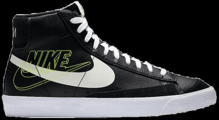 Blazer Mid 77 Vintage Reverse Logo  Black  Nike