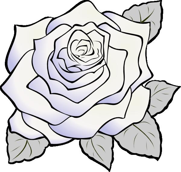 clip art white rose  Clip Art Library