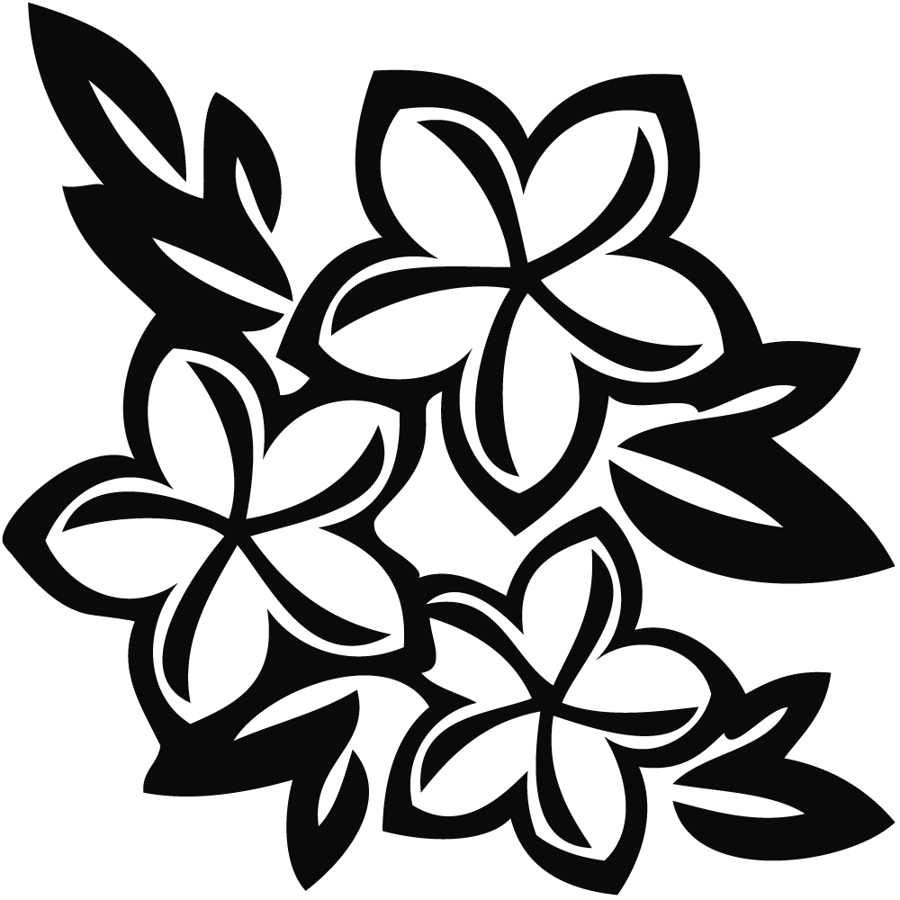 Flowers Black And White  Free download on ClipArtMag