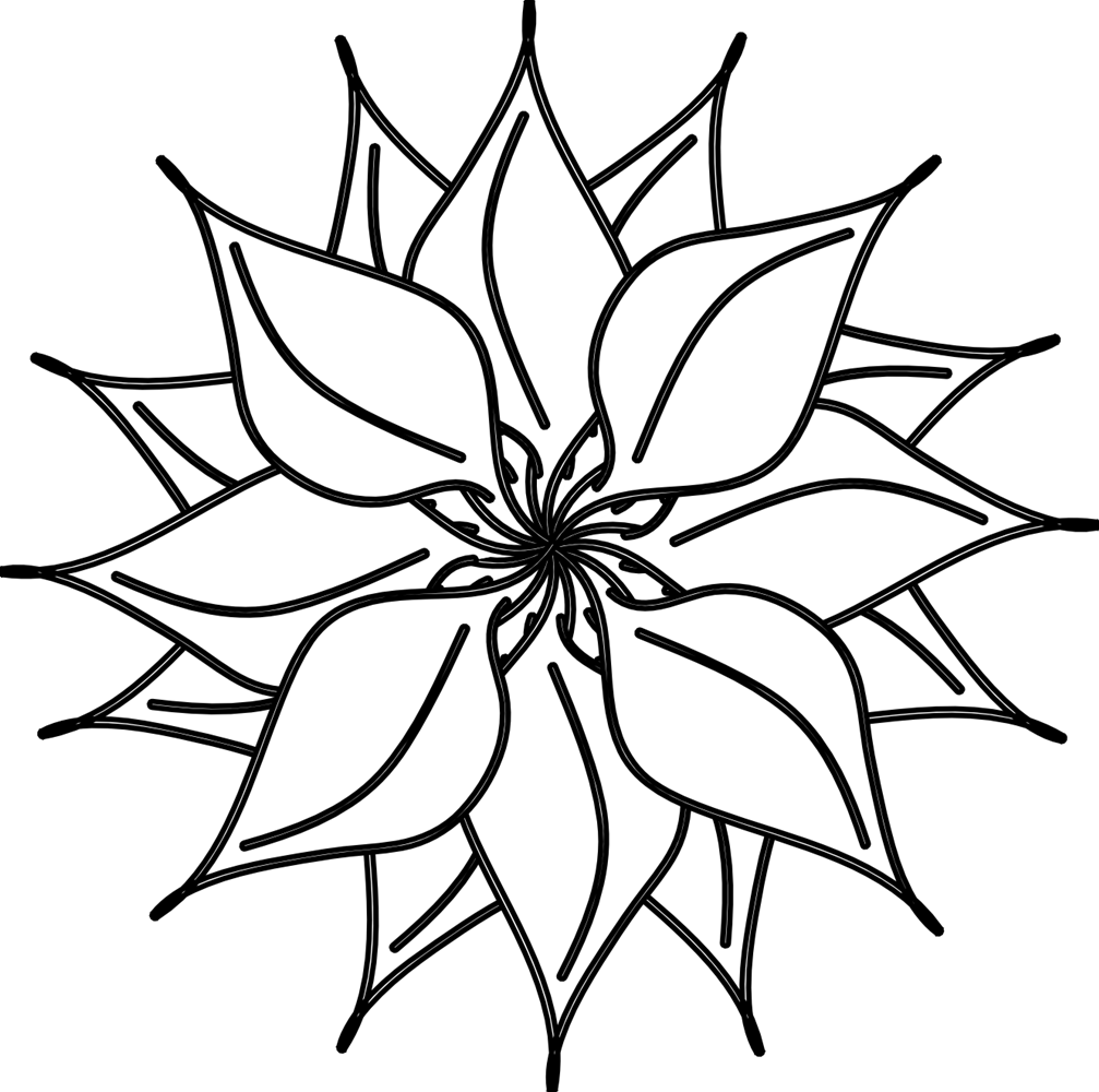 Flowers For  Tropical Flowers Clip Art Black And White