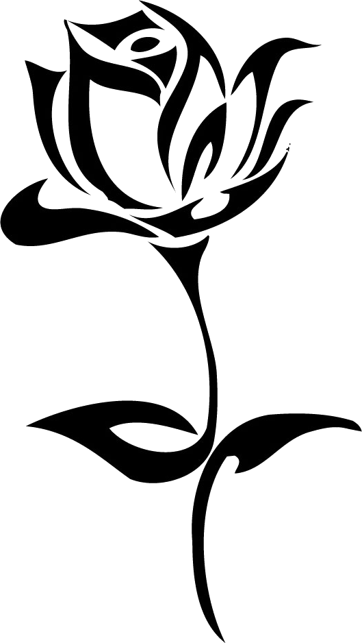 Tattoo rose PNG image