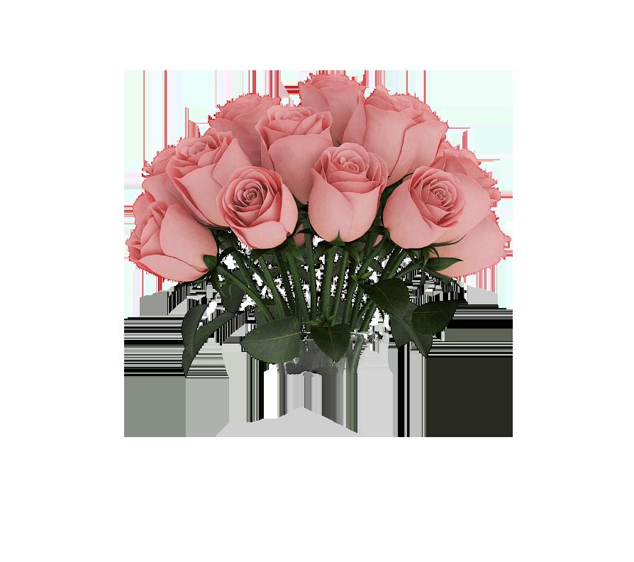Garden roses Flower bouquet  Pink rose bouquet png