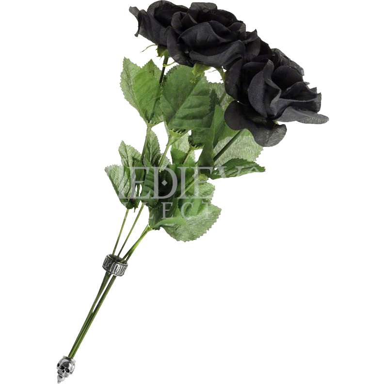 Bouquet of Black Roses  AGROSE2 by Medieval Collectibles