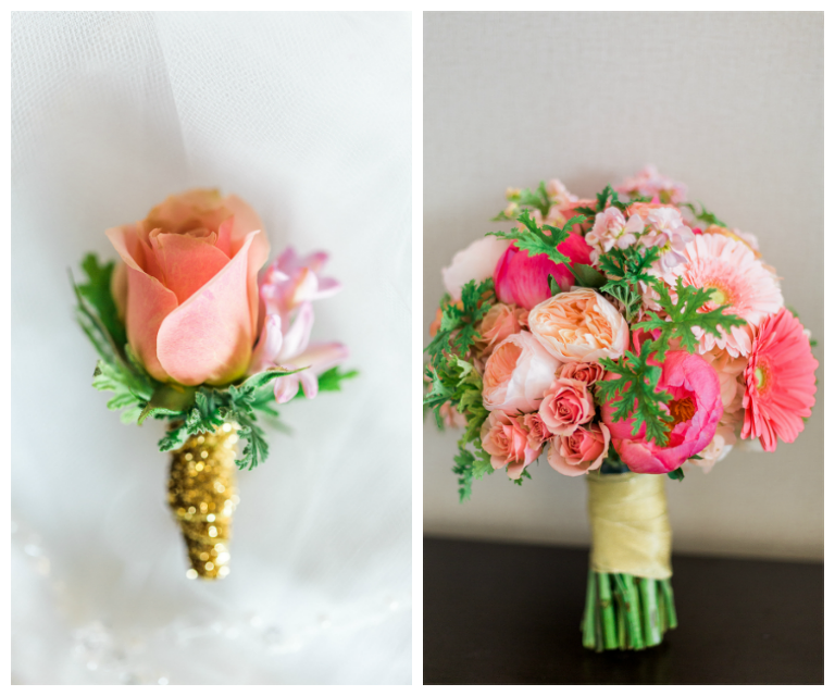 Black Gold and Coral Downtown St Pete Wedding  Rose