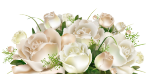White Roses Decoration PNG Clipart Picture | Artistically ... - Black Rose Wedding Bouquet