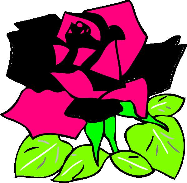 Pink And Black Rose Clip Art at Clkercom  vector clip