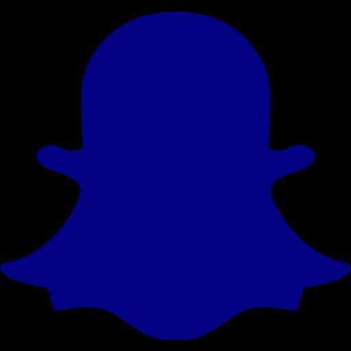 Navy blue snapchat 2 icon  Free navy blue social icons