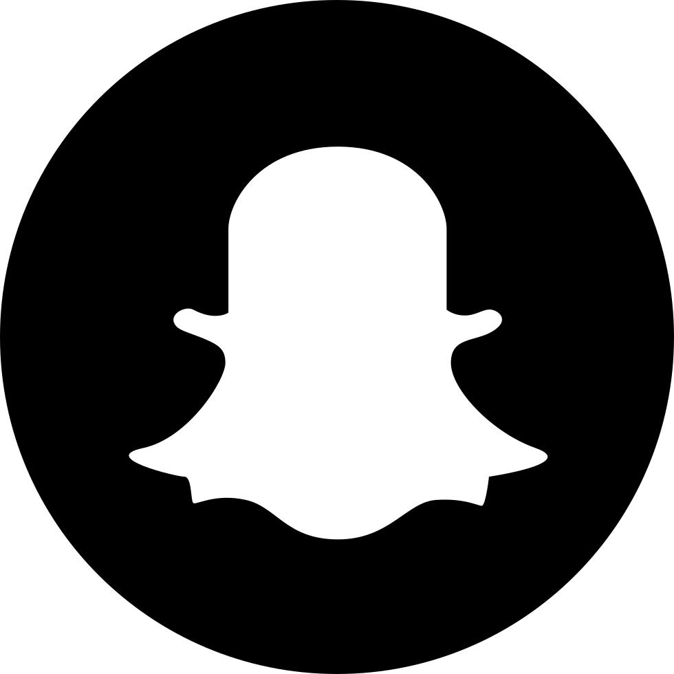 Black Snapchat Circled Logo Png
