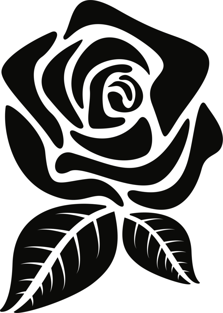 Rose clipart silhouette Rose silhouette Transparent FREE