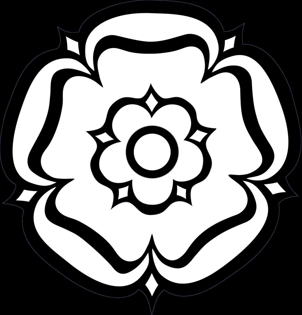 York Rose Flower Clipart Black And White