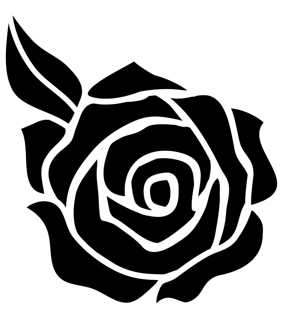 Rose silhouette  Rose stencil Free clip art Flower stencil