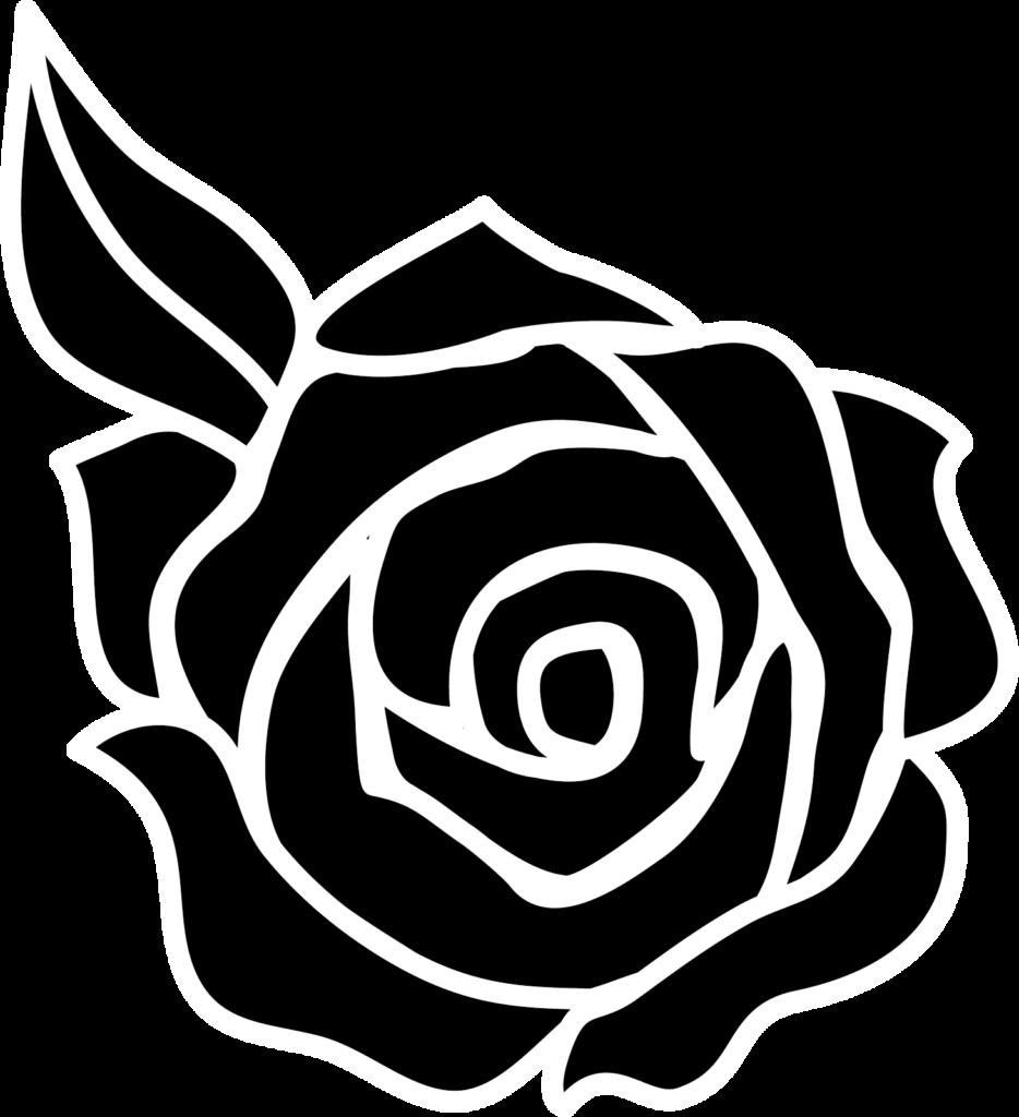 silhouette rose  Căutare Google  Rose stencil