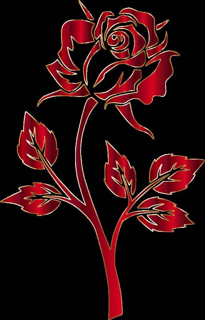 Crimson Rose Silhouette No Background  Silhouette clip