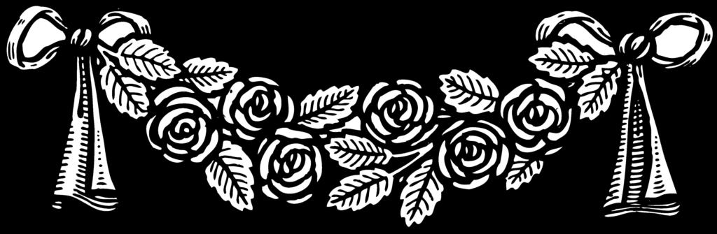 Vintage Roses Banner Decoration  Free Clip Art