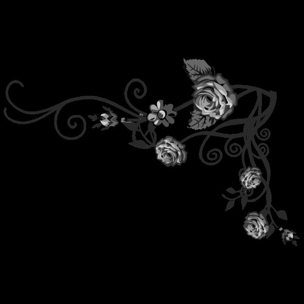 Rose corner decor  Free SVG