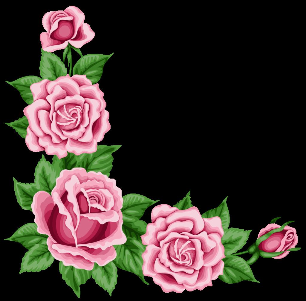 rose corner border designs  Clip Art Library