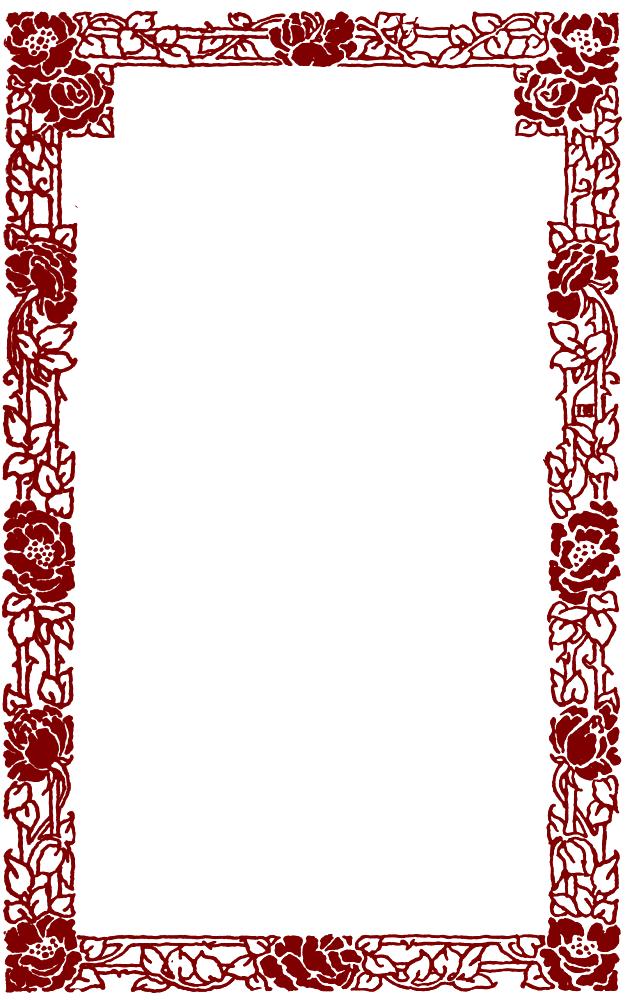 Reading Roses  Prose Rose Label Frames in Red Black
