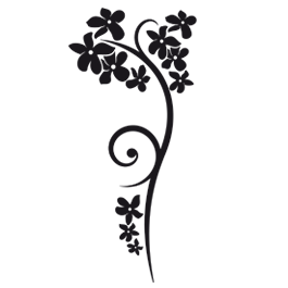 Flower branch wall decals  Dezign With a Z