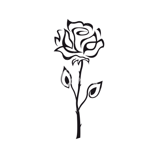 Rose Outline  Free download on ClipArtMag
