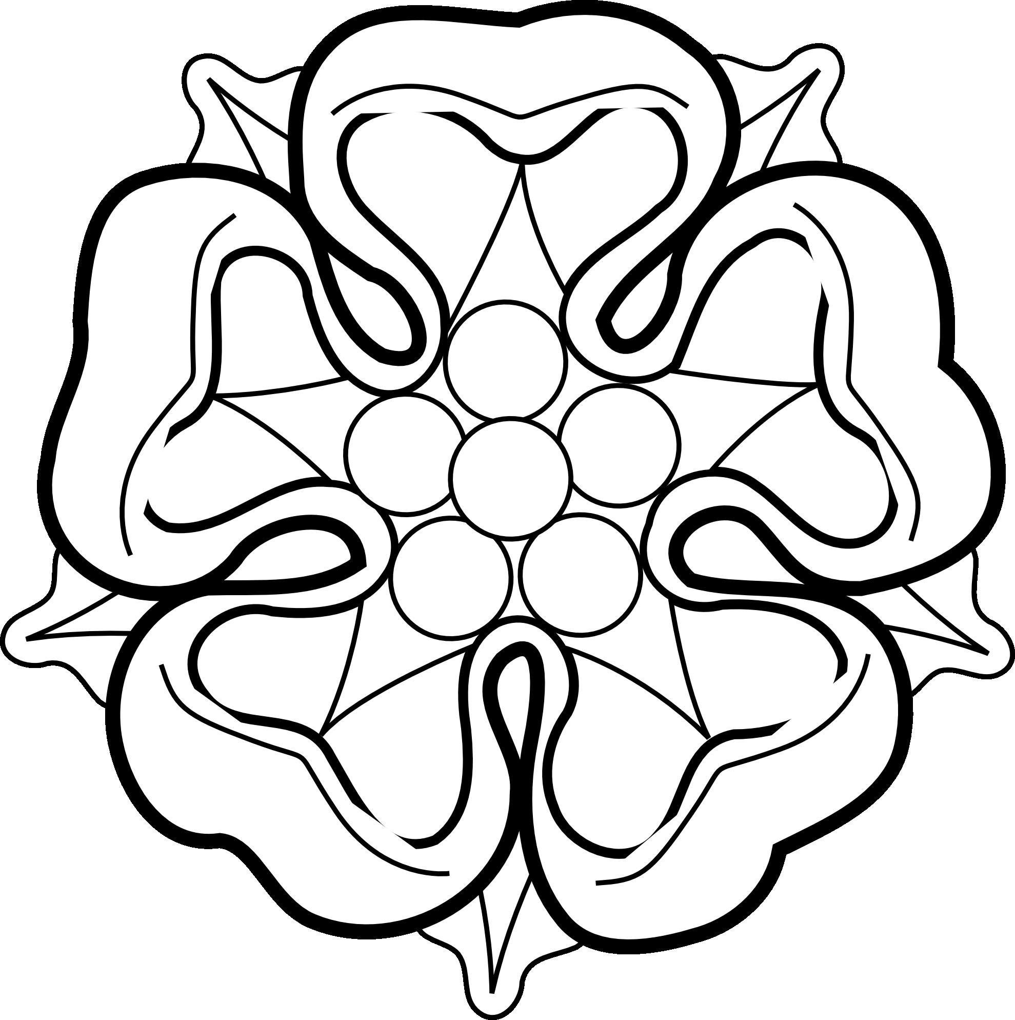 White Rose Clip Art - ClipArt Best - Black and White Rose Outline