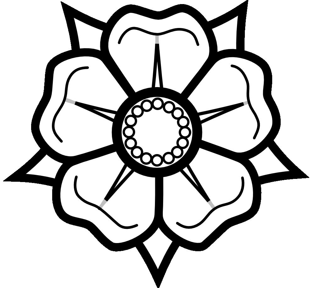 Lippische Rose Black White  Clipart Panda  Free Clipart