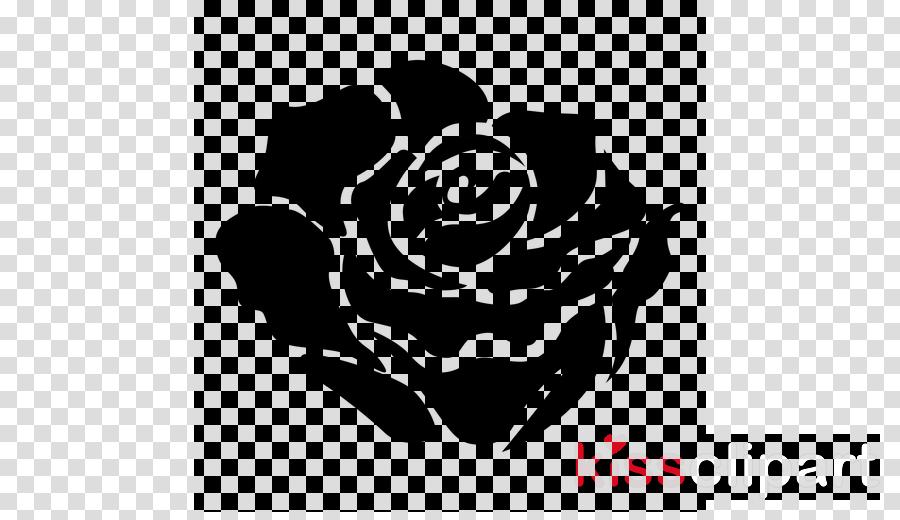 Garden roses clipart  White Black Rose transparent