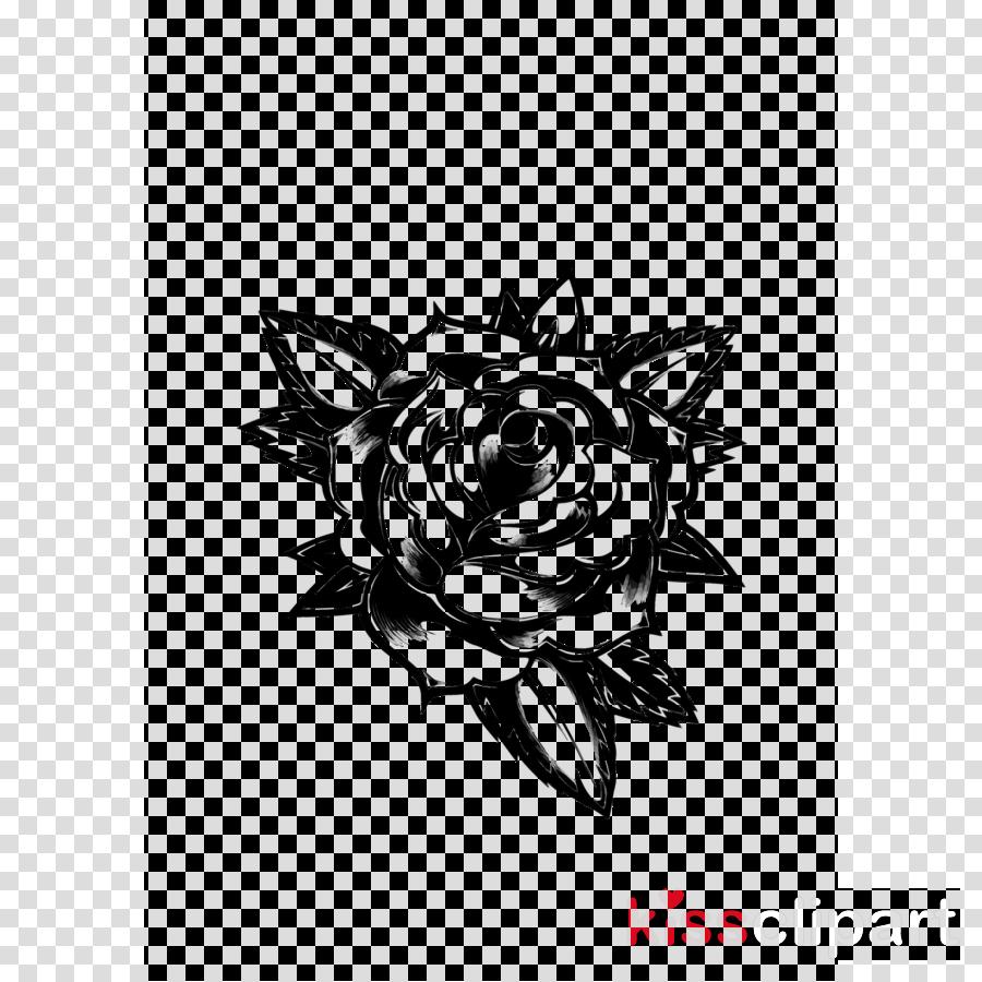 Rose Black And White clipart  White Black Rose