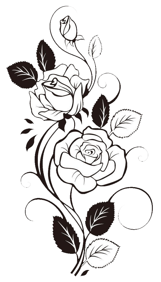 999 Flower Clipart Black And White Free Download