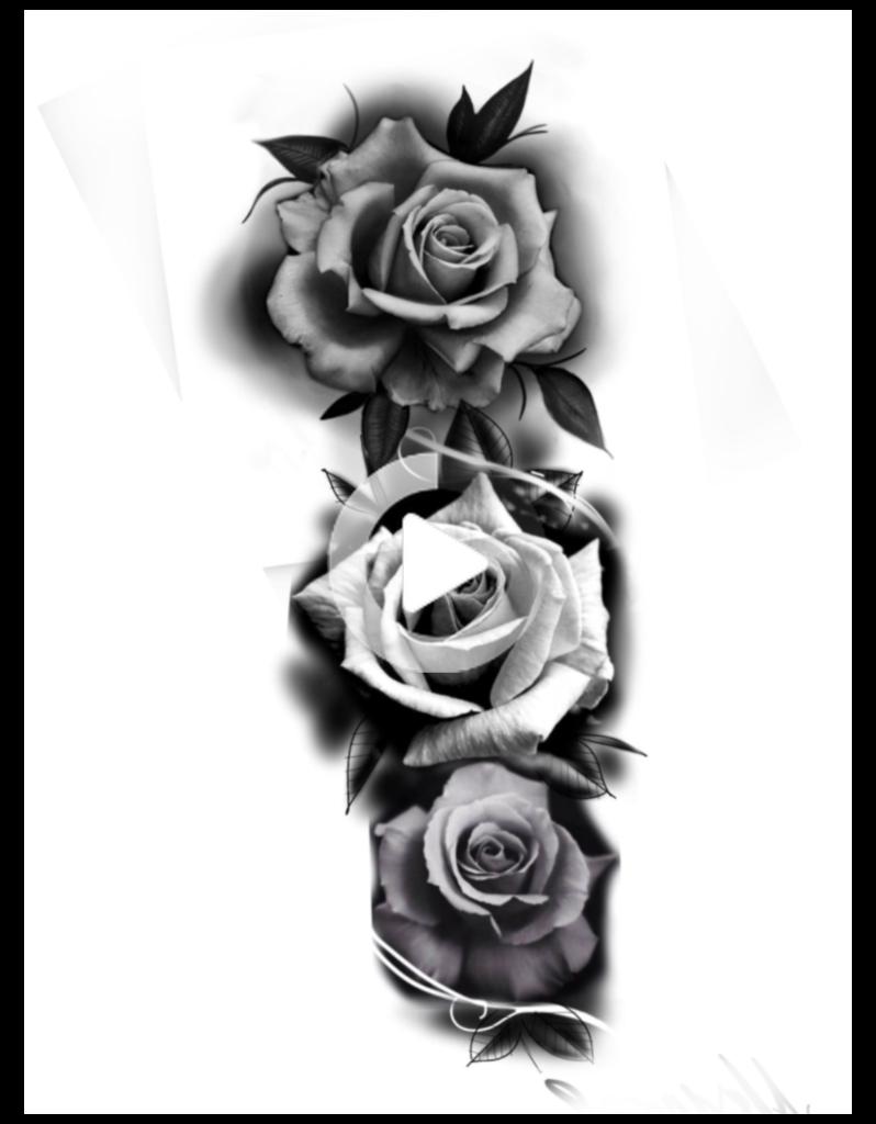 Rose Tattoo Sleeve  Rose Tattoo in 2020  Rose tattoos