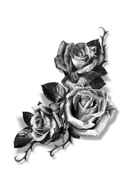 Realistic Rose Tattoo Png  tattoo design