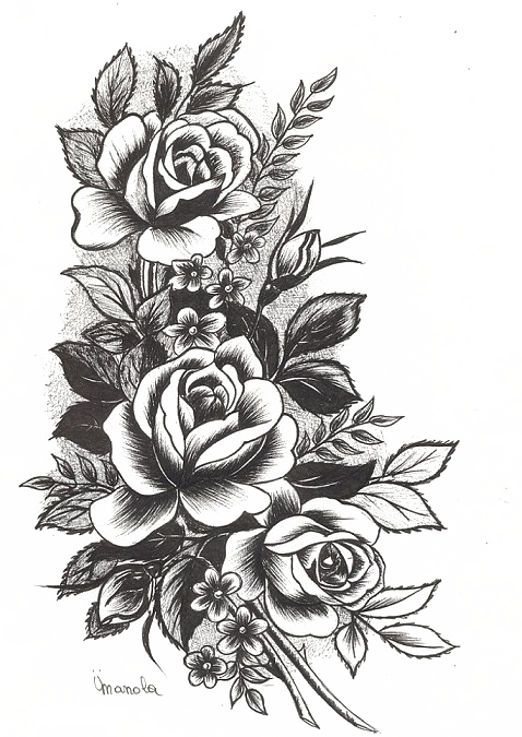 tattoo design png  Rose Tattoo Png Highquality Image