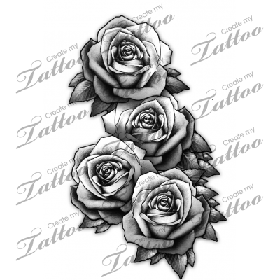 3 Realistic Roses  sorry 160346  CreateMyTattoocom