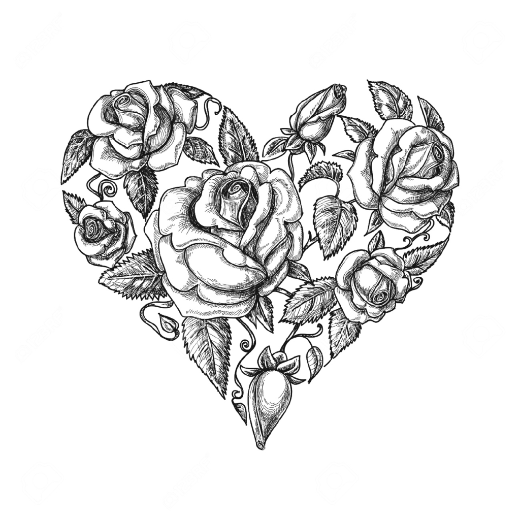 Heart Drawing Vintage clothing Clip art  rose tattoo png