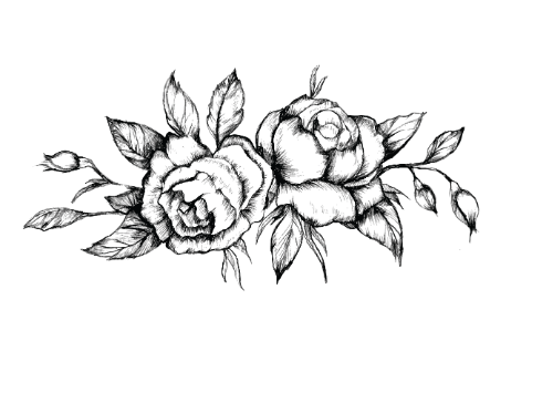 Sizeleeven Black And White Rose Tattoo Png