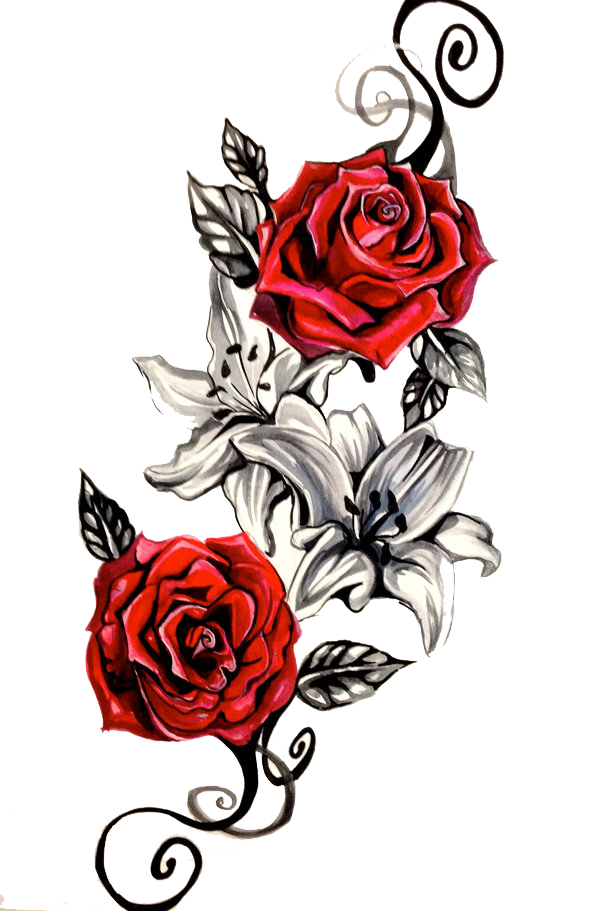 RoseTattooPNGClipartpng 600911  Rosen tattoo frau