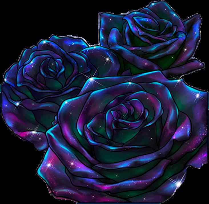Discover the coolest black purple sparkle flowers