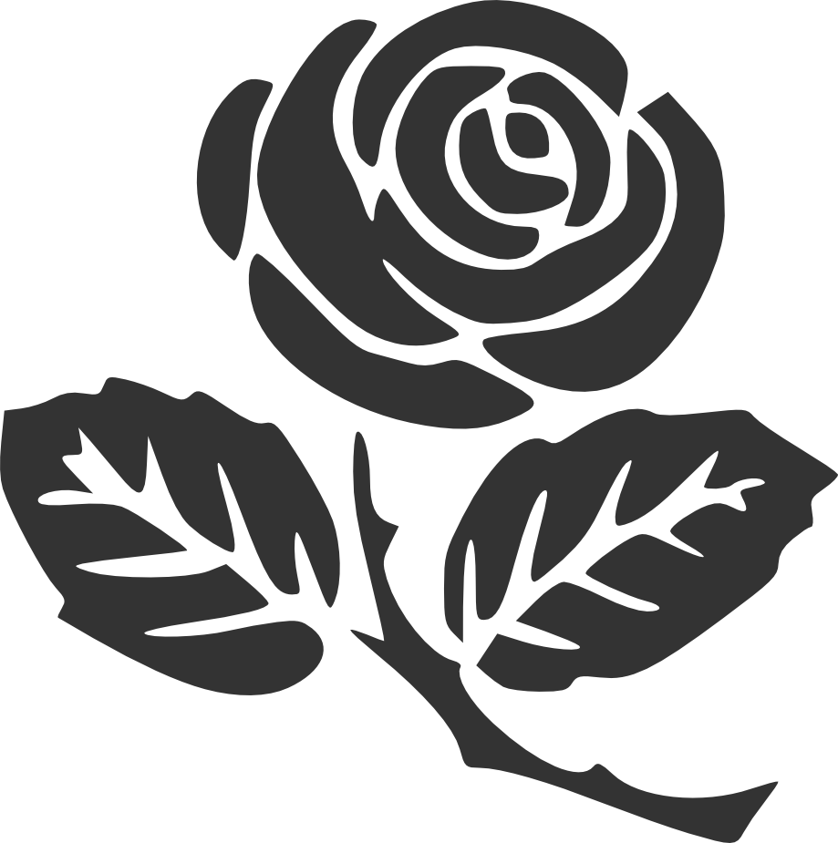 Rose silhouette  Rose clipart Flower drawing Rose stencil