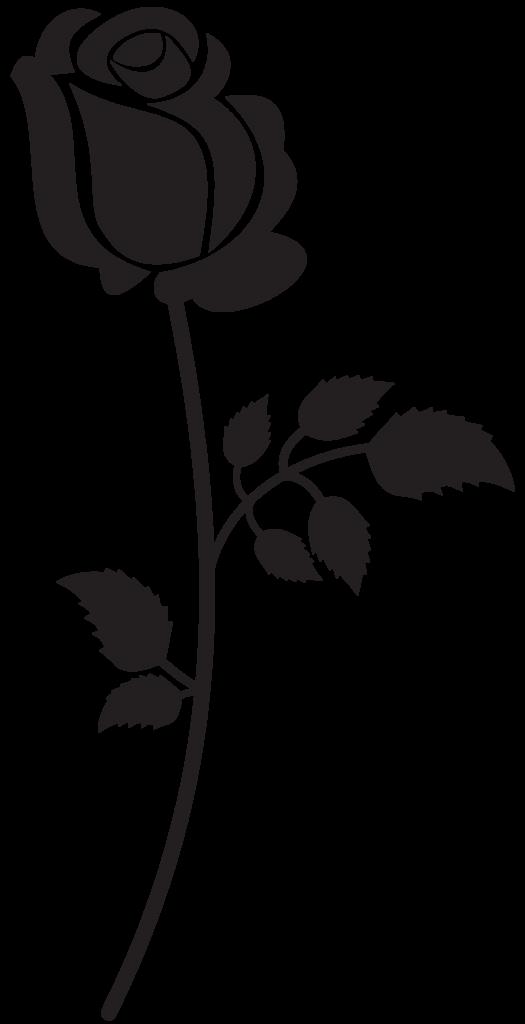 Rose Silhouette PNG Clip Art Image  Искусство силуэта