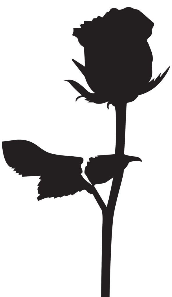 Rose Silhouette Clipart  Free download on ClipArtMag